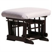 Dutailier Espresso Ottoman For Sleigh and 2 Post Gliders in Light Grey