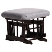 Dutailier Espresso  Ottoman For Sleigh and 2 Post Gliders in Dark Grey