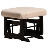 Dutailier Ottoman For Modern Gliders in Espresso and Light Beige