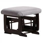 Dutailier Ottoman For Modern Gliders in Espresso and Dark Grey Fabric