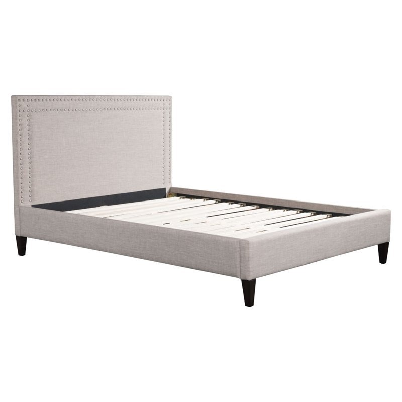 ZUO Renaissance Upholstered Queen Bed in Dove Gray