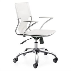 Zuo Trafico Office Chair in White