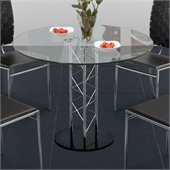 Zuo Chardonnay Casual Dining Table with Glass Top