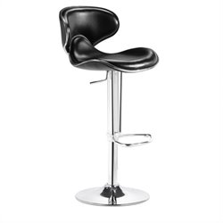 Zuo Fly 21-30 Adjustable Bar Stool in Black