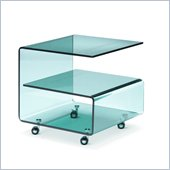 Zuo Voyage Clear Glass Side Table
