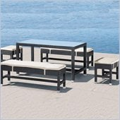 Zuo Myrtle Outdoor Table and Bench Set