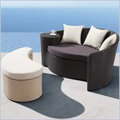 Zuo Curacao Bed and Ottoman