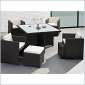 Zuo Naples Outdoor Nesting Table Set