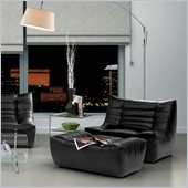 ZUO Carnival Modern Leatherette Single Seat in Black