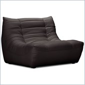 ZUO Carnival Modern Leatherette Single Seat in Espresso