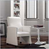 Zuo Burlarm Chair in White 