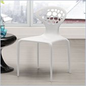 Zuo Stackable Marzipan Chair in White