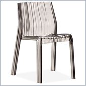 Zuo Stackable Ruffle Chair in Transparent Grey
