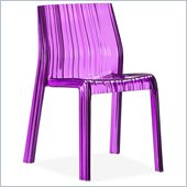 Zuo Stackable Ruffle Chair in Transparent Purple