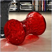 Zuo Prisma Stool in Transparent in Red