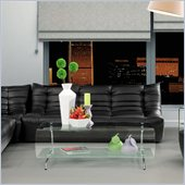 ZUO Carnival Modern Leatherette Sofa in Black