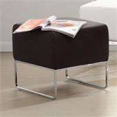 Zuo Plush Ottoman in Espresso
