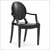 Zuo Anime Acrylic Chair in Black