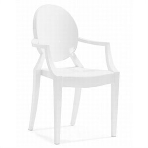 Zuo Anime Acrylic Stacking Chair in White