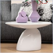 Zuo Bolo End Table in White