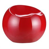 Zuo Drop Stool in Red