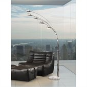 Zuo Cosmic Floor Lamp in Chrome