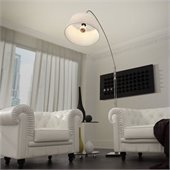 Zuo Alpha Floor Lamp in Chrome