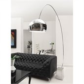 Zuo Gravity Floor Lamp in Chrome