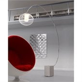 Zuo Plasma Floor Lamp in Chrome