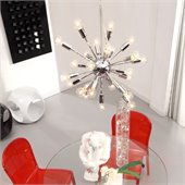 Zuo Pulsar Ceiling Lamp in Chrome