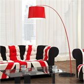 Zuo Twisty Floor Lamp in Red with Black Base