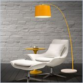 Zuo Twisty Floor Lamp in Yellow with White Base