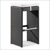 ZUO Agadir Outdoor Synthetic Weave Dining Single Bench in Espresso