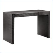 ZUO Agadir Outdoor Synthetic Weave Dining Table in Espresso