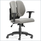 ZUO Aqua Modern PU Office Chair in Gray Mesh