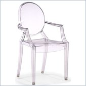 ZUO Baby Anime Modern Polycarbonate Kids Chair in Transparent
