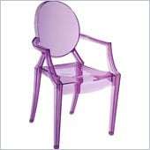 ZUO Baby Anime Modern Polycarbonate Kids Chair in Transparent Purple