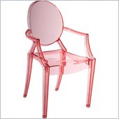 ZUO Baby Anime Modern Polycarbonate Kids Chair in Transparent Red