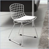 ZUO Baby Wire Modern Kids Chair in Chrome