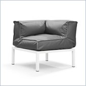 ZUO Copacabana Outdoor Polyster Fiber Corner in Light Gray