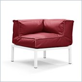 ZUO Copacabana Outdoor Polyster Fiber Corner in Red