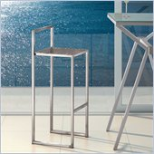ZUO Dalton Modern Stainless Steel Bar Chair in Stainless Steel