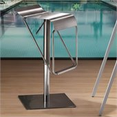 ZUO Dazzer Modern Stainless Steel Barstool in Stainless Steel