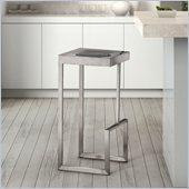 ZUO Deal Modern Stainless Steel Bar Chair in Stainless Steel