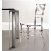 ZUO Diamond Modern Plastic Dining Chair in Transparent