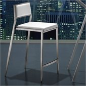 ZUO Dolemite Modern Leatherette Counter Chair in White