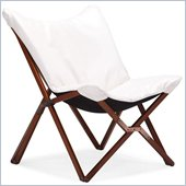 ZUO Draper Modern Leatherette Lounge Chair in White