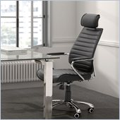 ZUO Enterprise Modern Leatherette High Back Office Chair in Black