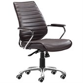 ZUO Enterprise Modern Leatherette Low Back Office Chair in Espresso