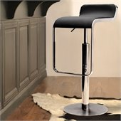 ZUO Equino Modern Leatherette Barstool in Black
